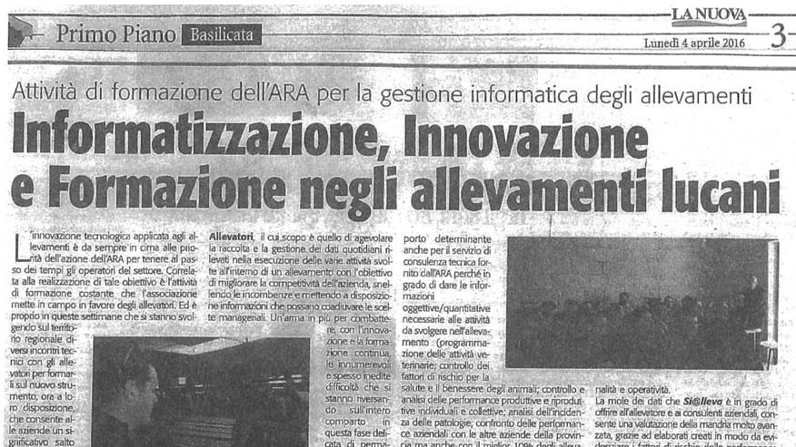 Rassegna Stampa 2016